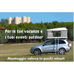 For your Holyday in Italy, rent a rooftop tent