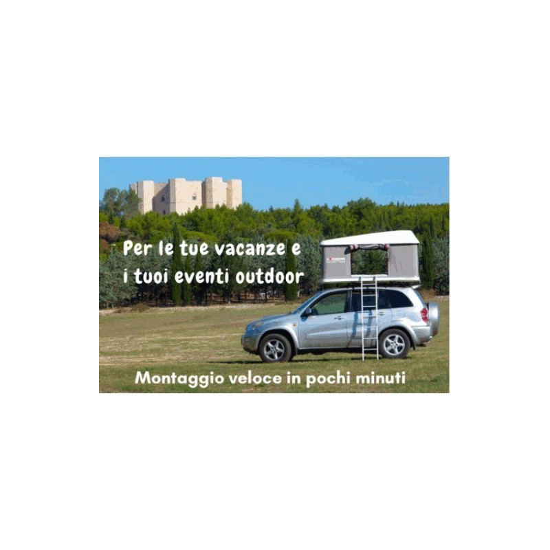 Per le tue vacanze outdoor. Montaggio della Maggiolina in pochi minuti.