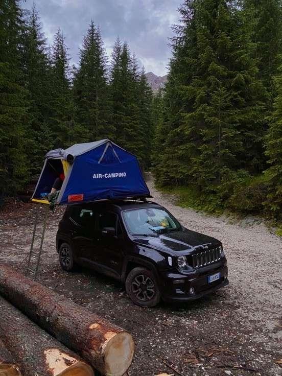Al Lago di Carezza in libera con la tenda maggiolina Air Camping