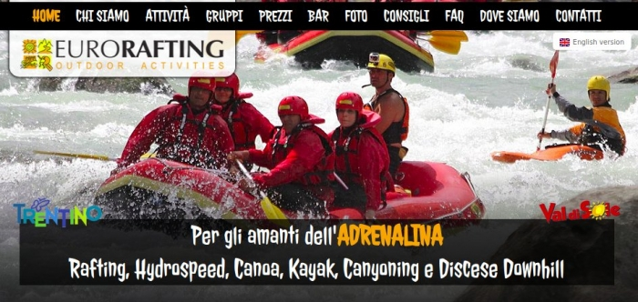 Eurorafting - Val di Sole - Discounts for Vivishare customers